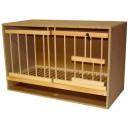 Zelle 62 mit Gitter und Schublade - Doppelrahmen Pfahl