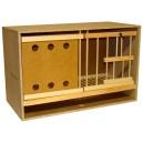 Zelle 62 mit Gitter und Schublade Doppelrahmen Pfahl/Platte