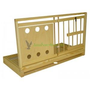 DeLux Satz fϋr die Zelle - Doppelrahmen Pfahl/Sperrholz mit Gitter und Schublade